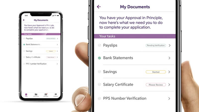 How to view your application documents by using on the My Mortgage app on a mobile phone.